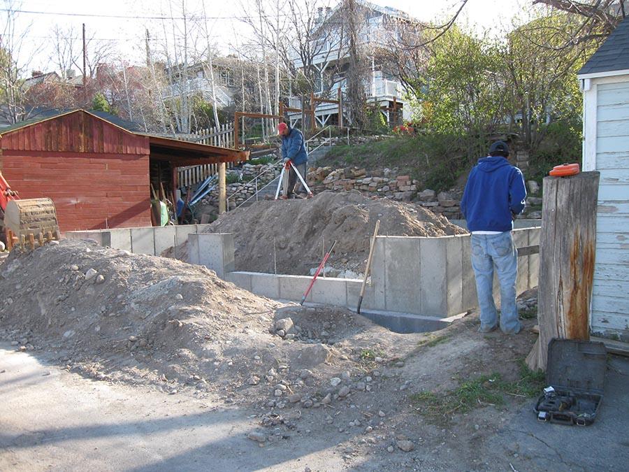 Foundation For Garage Amp Sidewalk Capitol Hill Utah